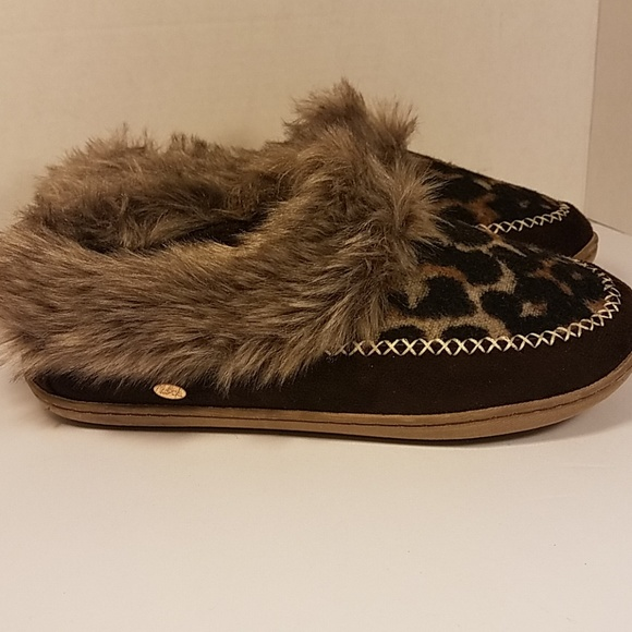 Kooba Moccasin Slippers Leopard Print
